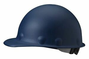 Fibre metal Fiberglass Blue Hard Hat With 8 point Ratchet Susp Cl