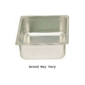 Steam table Pan Stainless Half Size 10 3 8 X 12 3 4 Size 4 High