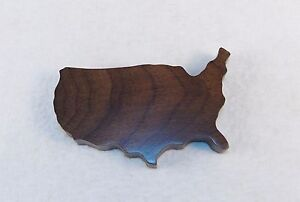 Solid Walnut Paper Weight Woodessen Usa Shaped W gift Box Free Shipping