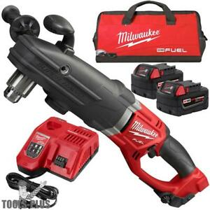 Milwaukee 2709 22 M18 Fuel Super Hawg 1 2 Right Angle Drill Kit New