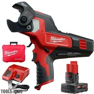 Milwaukee M12 600 Mcm Cable Cutter Kit 2472 21xc New