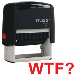 Wtf Red Stock Self inking Rubber Stamp Secret Santa Office Present Gift