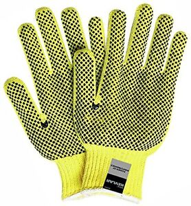 1 Dozen Safety Gloves Memphis Kevlar Gloves Pvc Dual sided Dotted Dot 2 Sided