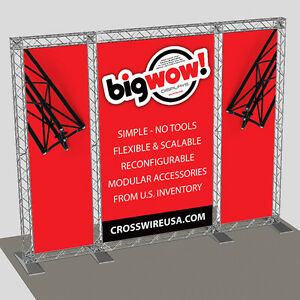 Crosswire Modular Mini Truss Trade Show Display No Tools Required