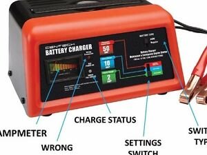 12v Car Battery Charger Maintainer Jump Starter Box For Auto Truck Boat Tractor