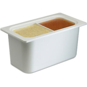 San Jamar Chill it Food Pan 1 3 Size Divided White