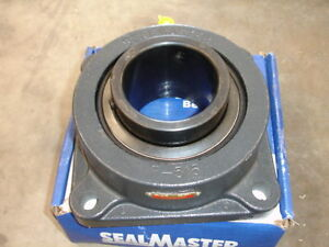 Sealmaster Msf 55 Medium Duty 4 Bolt Set Screw Flange Bearing 3 7 16 New