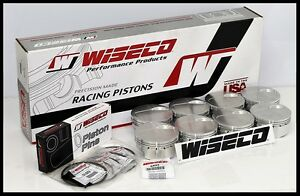 Bbc Chevy 632 Wiseco Forged Pistons Mahle Rings 4 600 7 5cc Dh Dish Wd 01108