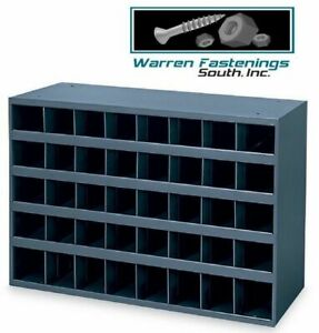 Metal 40 Hole Storage Bin Cabinet For Bolts Screws nuts Washers Fasteners