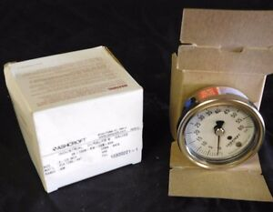 New Ashcroft Industrial Duralife Gauge 25 1009 sw 02b 60 60 Psi Stainless Nib