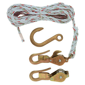 Klein Tools H1802 30sr Block And Tackle With Guarded Snap Hooks With Rope