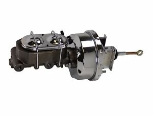 1964 66 Ford Mustang Chrome 7 Power Brake Booster Master Cylinder