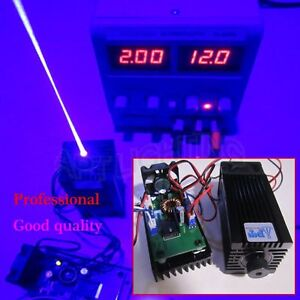 Focusable High Power 3500mw 450nm Blue Laser Module Ttl 12v Input Wood Carving