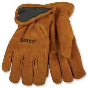 Kinco 50rl Work Glove Multi purpose Lined Construction Cold Weather Warm Cowhide