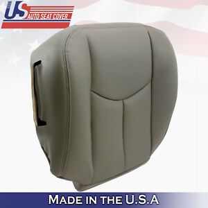 2003 2004 2005 2006 Chevy Tahoe Suburban Driver Bottom Leather Seat Cover Gray Fits Tahoe