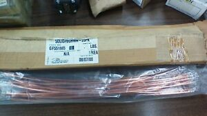 Marconi 6 Gauge Solid Bare Copper Ground Wire Jumpers Lot Of 20 10a