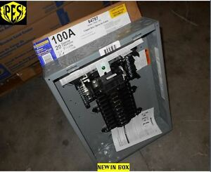 Nib Sq D Qo120m100 100amp 1 Phase Indoor L c 20 Ckt M b Panel Cover Not Included