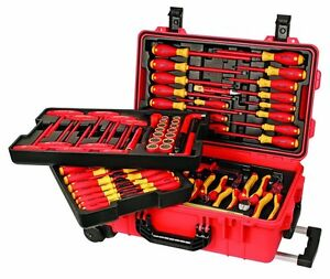 Wiha 32800 Insulated Tool Set With Screwdrivers Cutters Pliers And Sockets
