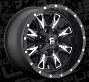 Fuel Throttle D513 18x10 8x170 Et 24 Black Wheels Rims Set Of 4