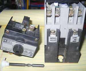 Sq d 8501 x020 Industrial Control Relay W latching Device