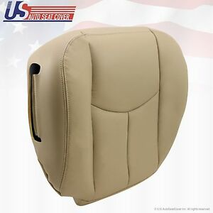 2003 To 2006 Tahoe Suburban Yukon Driver Bottom Leather Seat Cover Shale Tan Fits Tahoe