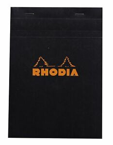 Rhodia Staplebound Notebook 6 X 8 Graph Paper Black