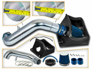 Cold Heat Shield Air Intake Blue Filter For 11 14 F150 Pickup 5 0l V8