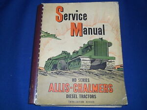 Allis Chalmers Hd Series Dozer Tractor Service Shop Workshop Repair Book Manual