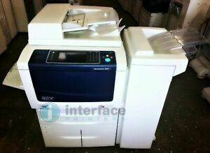 Xerox Workcentre 5875 B w Printer W Office Finisher Only 9k Copies