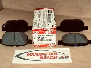 2013 2015 Prius Prius Plug In Rear Brake Pads New Genuine Toyota 04466 47101