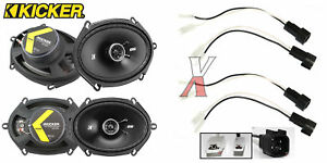 Kicker Dsc680 6 x8 Speakers With Wiring Harness Fits Ford 2 Pairs 50watt Rms
