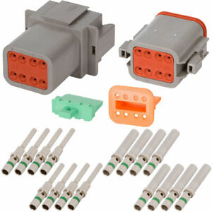 Deutsch Dt 8 Pin Gray Connector Kit W 14 Awg Solid Contacts