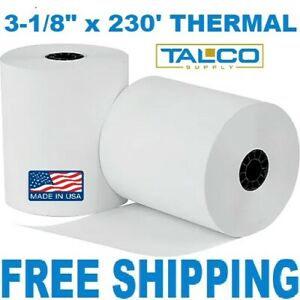 24 3 1 8 X 230 Thermal Pos Receipt Paper Rolls fast Free Shipping
