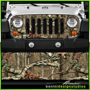 Jeep Wrangler Grill Vinyl Wrap Skin Decal Real Tree Camo 2007 2008 2009 2010 201