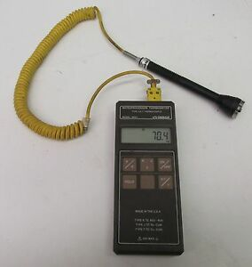 Omega Engineering Microprocessor Thermometer Type J k t Thermocouple 40744wvs