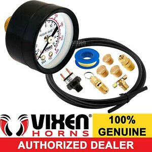 Onboard Train Horn Air Tank Installation Kit W Gauge switch valve hose Vxk5099