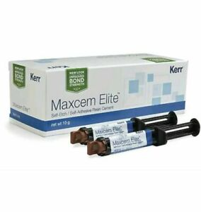 Maxcem Elite Clear Shade Cement New Pack By Kerr Clearance