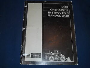 Volvo Bm Euclid Michigan L160 Wheel Loader Operation Maintenance Book Manual