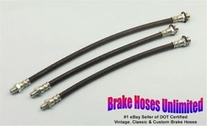 Brake Hose Set Studebaker Champion 1952 1953 1954 1955 1956 1957 1958