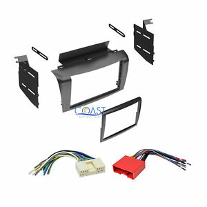 Double Din Car Stereo Dash Kit W Harness Combo For 2004 2009 Mazda 3 All Model