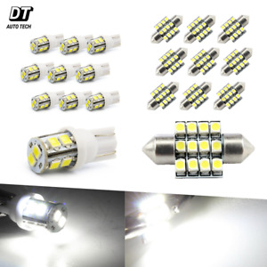 20x 194 168 White Led Light Interior Package Kit 31mm Map Dome License Plate