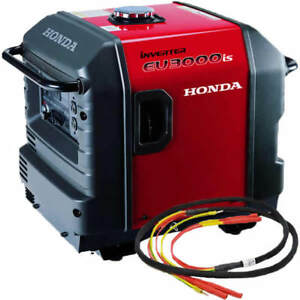 Honda Eu3000 Inverter Generator With Parallel Cables Kit single Generator