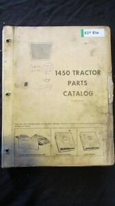 Oliver 1450 Tractor Parts Manual Book Catalog