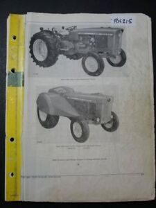 John Deere 2020 Low Profile Orchard Tractor Parts Manual Pc971