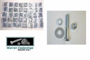 2150 Grade 5 Coarse Thread Bolt Nut Washer And Lockwasher Assortment