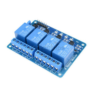 4 Four Channel Relay Module Dc 5v Optocoupler For Arduino Pic Arm Avr Dsp W