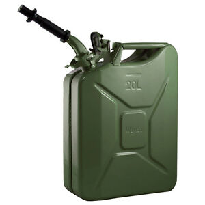 New Wavian 20 Liter Nato Military Steel Jerry Can Olive Drab Green 3008