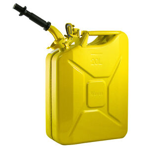 New Wavian 20 Liter Nato Military Steel Jerry Can Yellow 3011