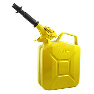 New Wavian 5 Liter Nato Military Steel Jerry Can Yellow 3026