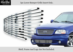 Fits 99 03 Ford F 150 Lightning Bumper Stainless Steel Billet Grille Insert